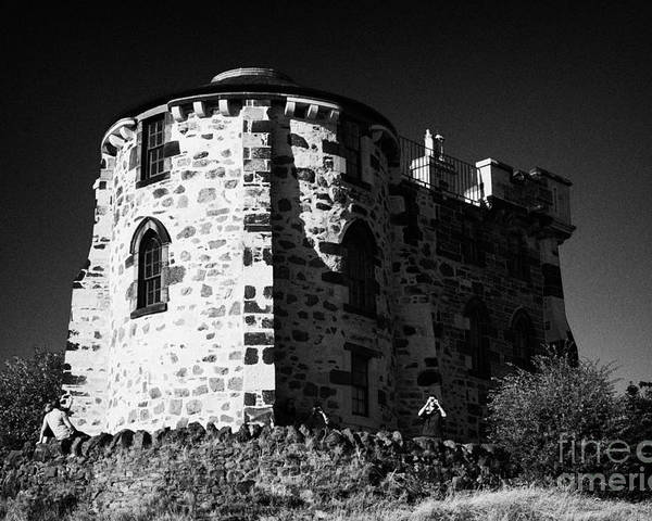 Calton Poster featuring the photograph Gothic Tower Of The City Observatory Edinburgh Scotland Uk United Kingdom by Joe Fox