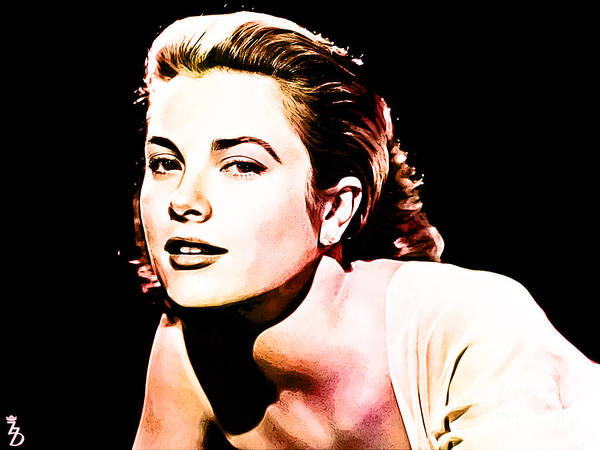 Grace Kelly Poster featuring the digital art Grace Kelly by The DigArtisT
