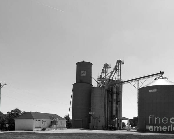 Grain Bin Poster featuring the photograph Grain Processing Facility In Shirley Illinois 2 by Alan Look