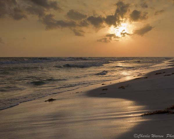 Sunset Poster featuring the photograph Grayton Beach Sunset by Charles Warren