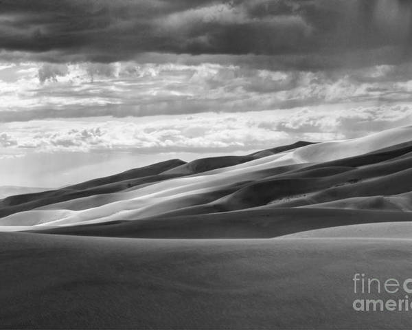 Black And White Landscape Photography Poster featuring the photograph Great Sand Dunes National Park by David Waldrop