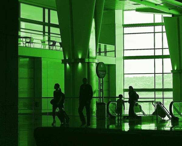 Green Poster featuring the photograph Green Airport by Ron Morales