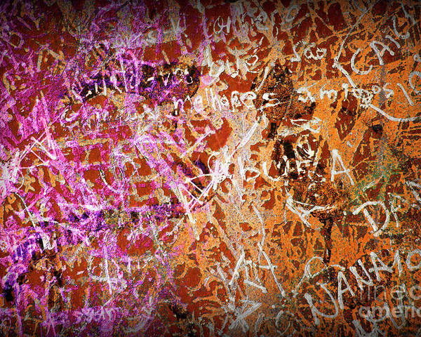 Abstract Poster featuring the photograph Grunge Background 3 by Carlos Caetano