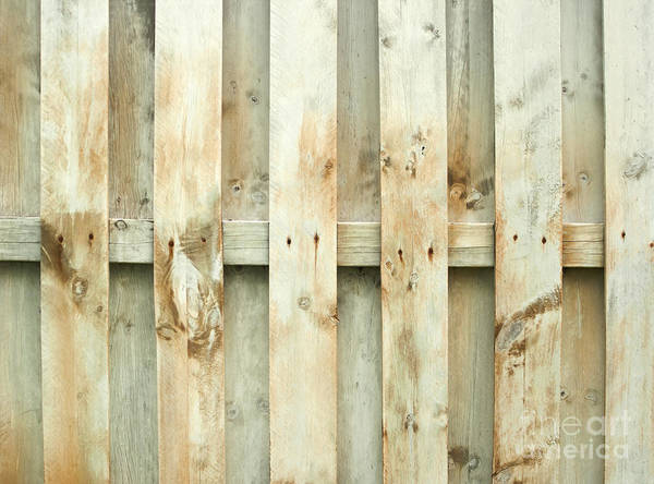 Fence Poster featuring the photograph Grungy Old Fence Background by Blink Images