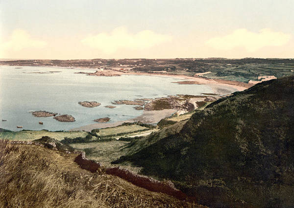 english Channel Poster featuring the photograph Guernsey - Rocquaine Bay - Channel Islands - England by International Images