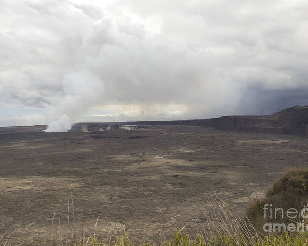 Crater Poster featuring the photograph Halemaumau Crater Of Kilauea Volcano by Fahad Sulehria