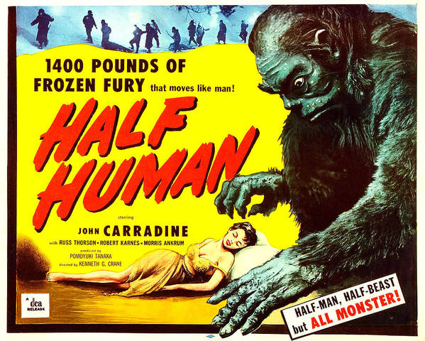 1950s Poster Art Poster featuring the photograph Half Human, Aka Half Human The Story Of by Everett