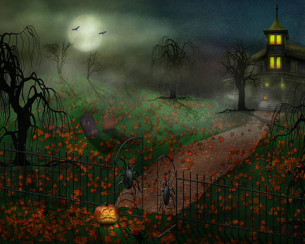 Hallows Poster featuring the photograph Halloween - One Hallows Eve by Mike Savad