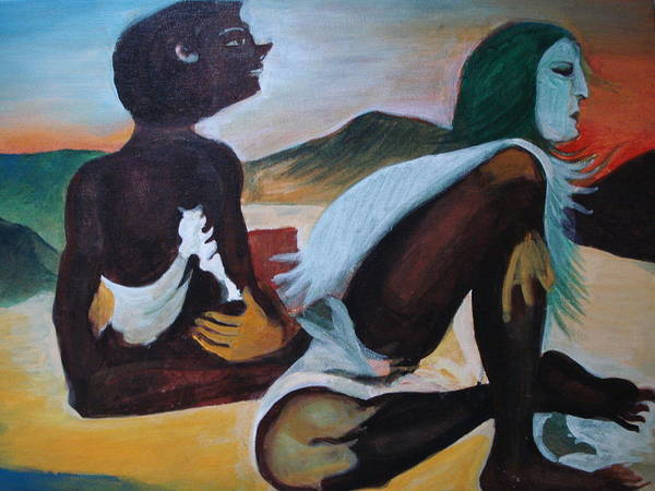 Hills Poster featuring the painting Hallucination by Prasenjit Dhar