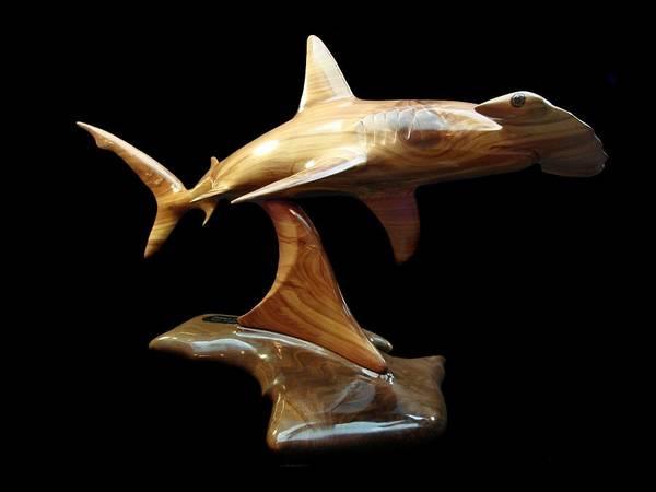 Shark Poster featuring the sculpture Hammerquest by Kjell Vistnes