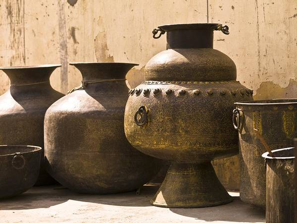 Artwork Poster featuring the photograph Hand Crafted Jugs, Jaipur, India by Keith Levit