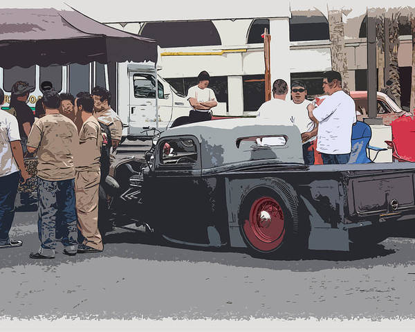 Chopped Poster featuring the photograph Hanging At The Car Show by Steve McKinzie