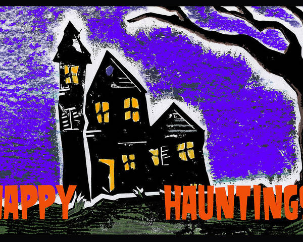 Excitement Poster featuring the digital art Happy Hauntings by Jame Hayes