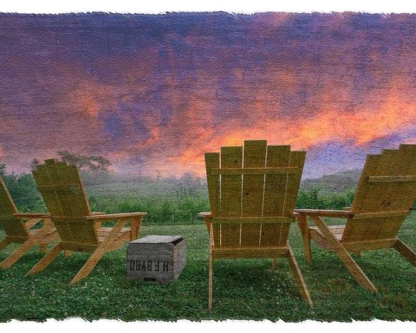 Appalachia Poster featuring the photograph Happy Hour by Debra and Dave Vanderlaan