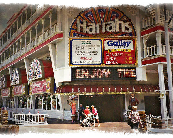 Las Poster featuring the photograph Harrahs 1994 - Impressions by Ricky Barnard