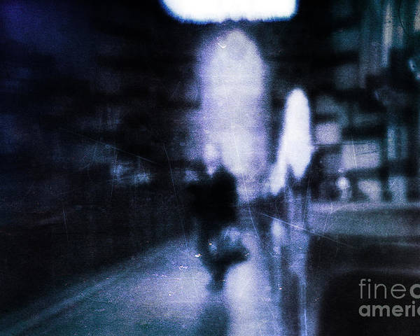 Blue Poster featuring the photograph Haunted by Andrew Paranavitana