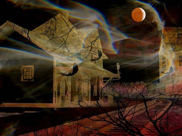 Halloween Poster featuring the photograph Haunted Evening by Shirley Sirois
