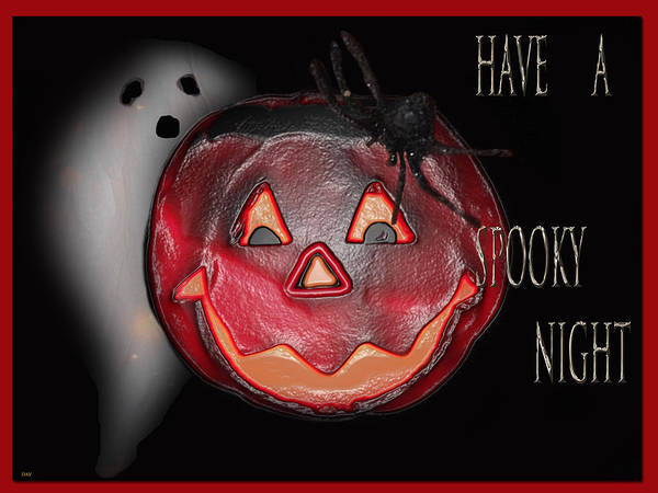 Have A Spooky Night Poster featuring the photograph Have A Spooky Night by Debra   Vatalaro