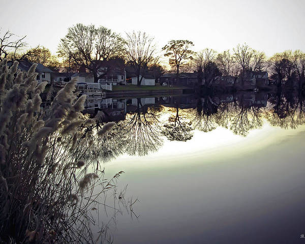 2d Poster featuring the photograph Hearns Pond Reflection by Brian Wallace