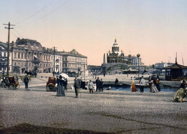 Helsinki Poster featuring the photograph Helsinki Finland - Senate Square by Bode Stevenson