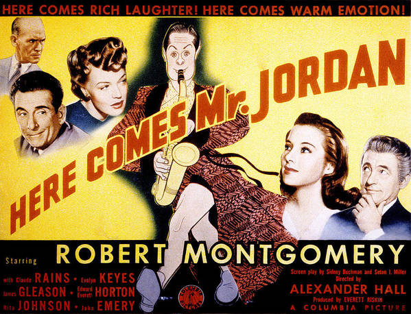 1940s Movies Poster featuring the photograph Here Comes Mr. Jordan, James Gleason by Everett