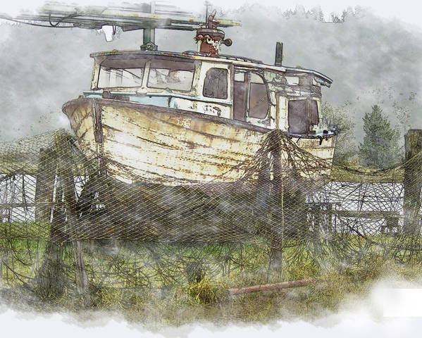 Boat Poster featuring the photograph Hidden Treasure 2 by Dale Stillman