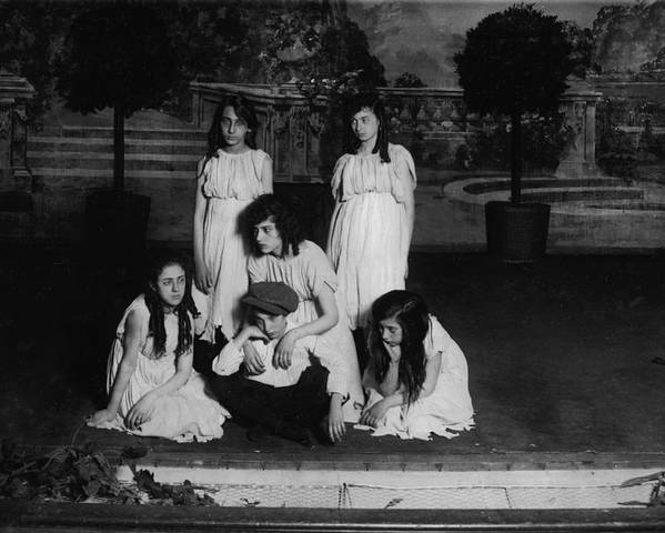 1910s Poster featuring the photograph High School Play, Original Caption Miss by Everett
