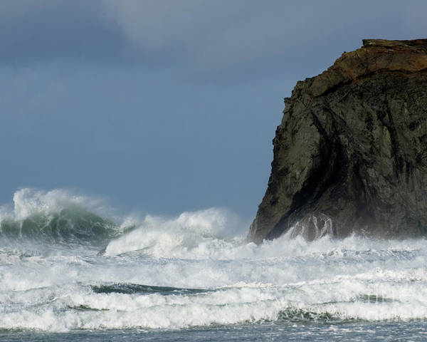 Rocks Poster featuring the photograph High Surf by Bob Christopher