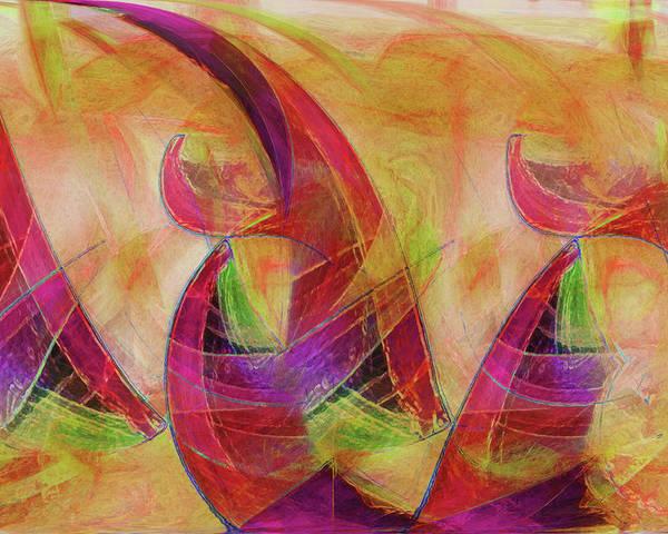 High Vibrational Art Poster featuring the digital art High Vibrational by Linda Sannuti