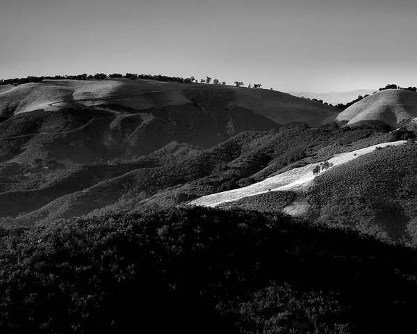 California Poster featuring the photograph Hills Of Light And Darkness II by Steven Ainsworth
