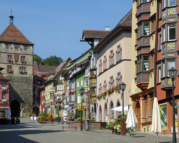 Rottweil Poster featuring the photograph Historical Old Town Rottweil Germany by Matthias Hauser