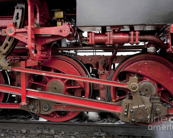 Heiko Poster featuring the photograph Historical Steam Train by Heiko Koehrer-Wagner