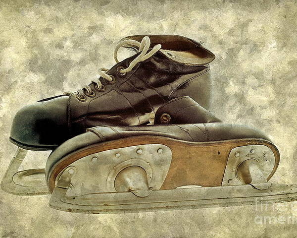 Sport Poster featuring the photograph Hockey Boots by Dariusz Gudowicz