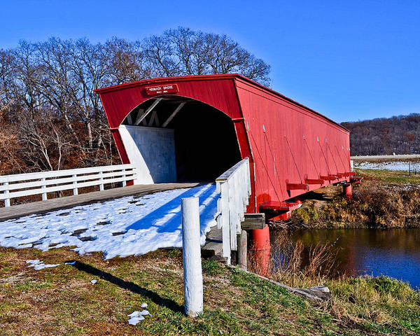 Hogback Covered Bridge Poster featuring the photograph Hogback Covered Bridge by Julio n Brenda JnB