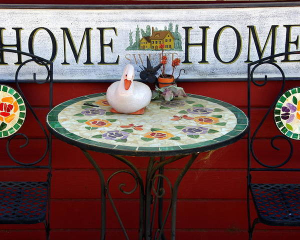 Chairs Poster featuring the photograph Home Sweet Home by Jeff Lowe