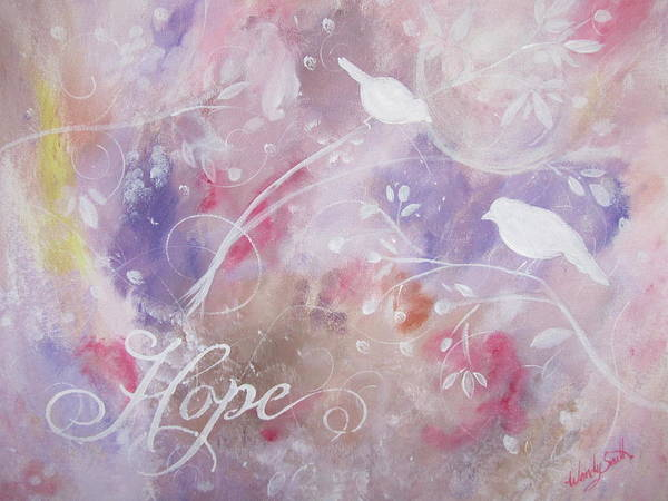 Hope Poster featuring the painting Hope Birds by Wendy Smith