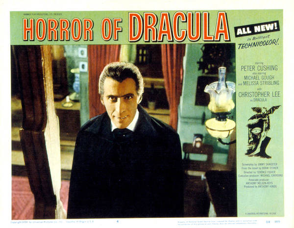 1950s Portraits Poster featuring the photograph Horror Of Dracula, Christopher Lee, 1958 by Everett