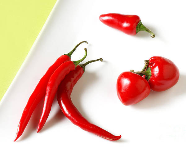 Food Poster featuring the photograph Hot Peppers by HD Connelly