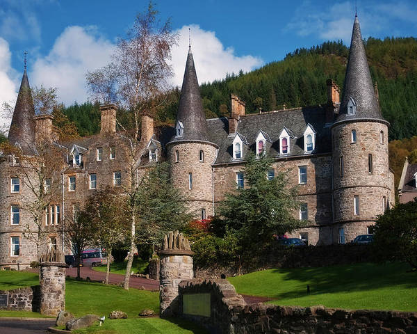 Scotland Poster featuring the photograph Hotel Tigh Mor Trossachs. Perthshire. Scotland by Jenny Rainbow