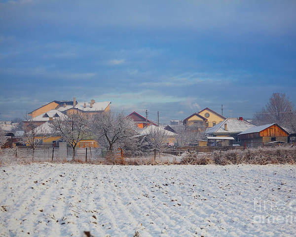 Houses Poster featuring the photograph Houses In Winter by Gabriela Insuratelu