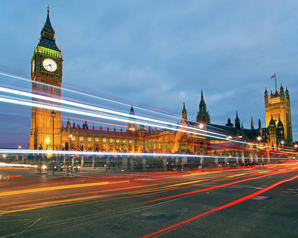 Horizontal Poster featuring the photograph Houses Of Parliament by Ray Wise