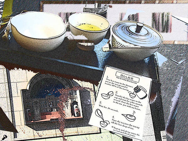 Poster featuring the digital art How To Make Tea Kyoto by Sally Fowler