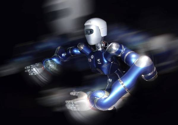 Jystin Poster featuring the photograph Humanoid Robot, Artwork by Detlev Van Ravenswaay