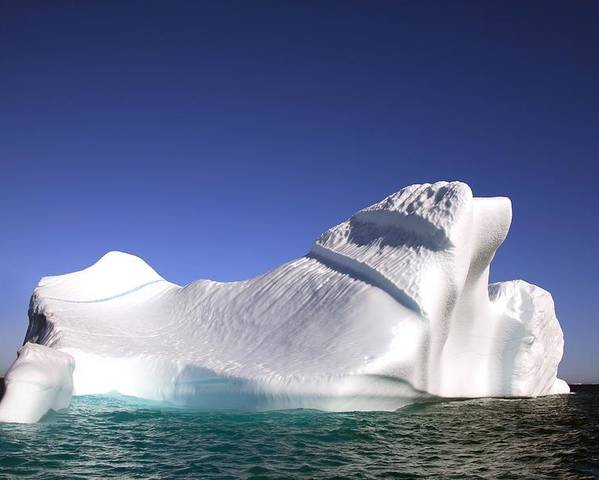 Blue Sky Poster featuring the photograph Iceberg In The Canadian Arctic by Richard Wear