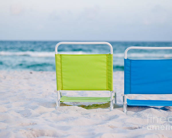 Beach Poster featuring the photograph If I Were A Chair... by Barbara Shallue