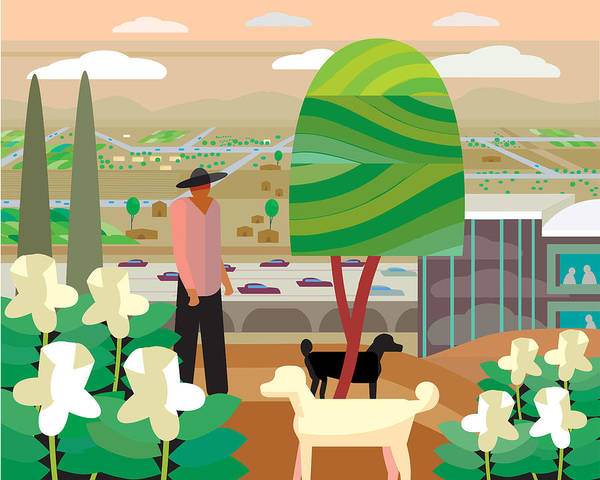 Adult Poster featuring the digital art Illustration And Painting In Scottsdale by Charles Harker