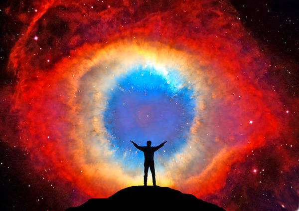 Amateur Astronomer Poster featuring the photograph In Awe Of The Helix Nebula by Larry Landolfi