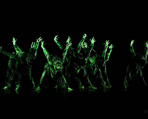 Dance Poster featuring the photograph In The Green Light by Raffaella Lunelli