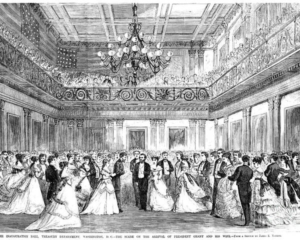 1869 Poster featuring the photograph Inaugural Ball, 1869 by Granger