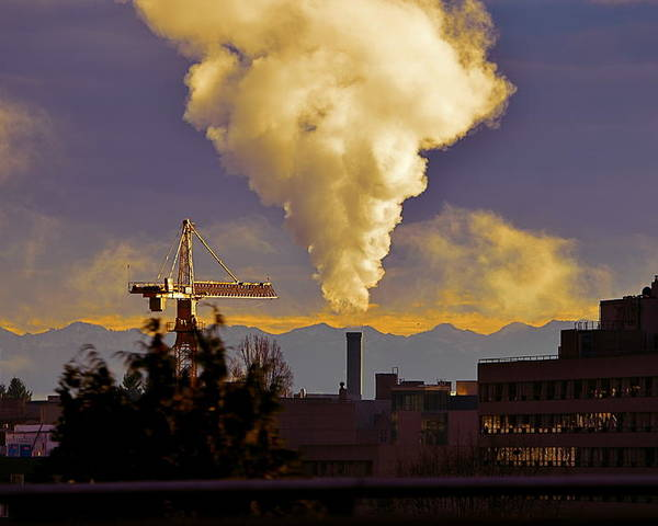 Smoke Poster featuring the photograph Industrial Beauty by Robert Evans